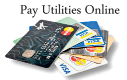 Pay utilities online with credit cards